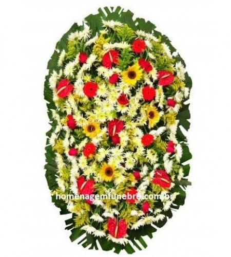 coroa de flores B18