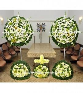 conjunto coroa de flores CA7