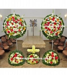 conjunto coroa de flores CA8