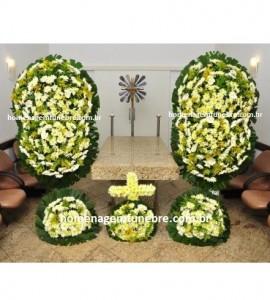 conjunto coroa de flores CA10