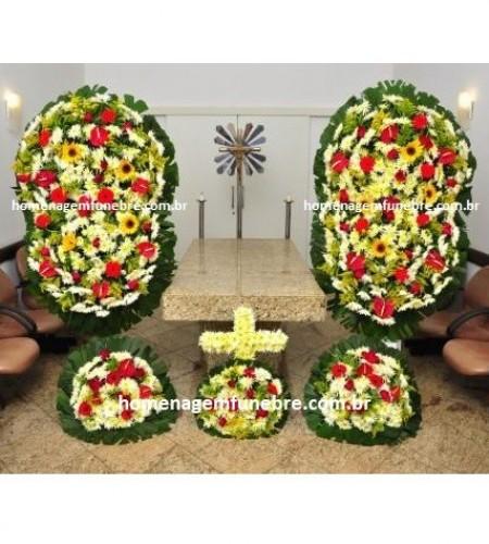 conjunto coroa de flores CA11