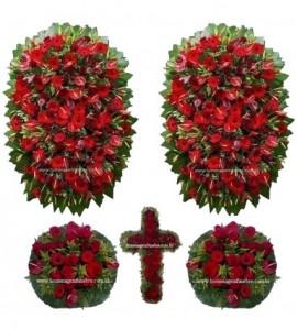 conjunto coroa de flores CB12
